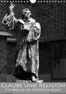 Glaube und Religion - Symbolik in monochrom