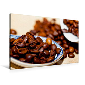 Premium Textil-Leinwand 75 cm x 50 cm quer Kaffeebohnen