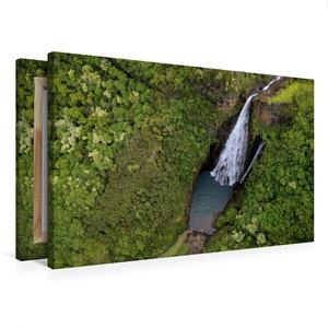 Premium Textil-Leinwand 75 cm x 50 cm quer Jurassic Falls