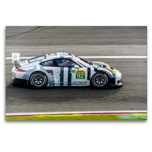 Premium Textil-Leinwand 120 cm x 80 cm quer PORSCHE 911 RSR LM G