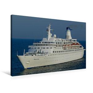 Premium Textil-Leinwand 90 cm x 60 cm quer Kreuzfahrtschiff DISC