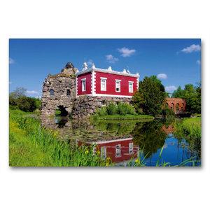 Premium Textil-Leinwand 90 cm x 60 cm quer Villa Hamilton