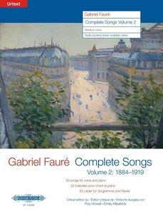 Sämtliche Lieder Band 2: 1884-1920. Für mittlere Singstimme und