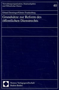 Grundsätze zur Reform des öffentlichen Dienstrechts