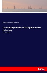 Centennial poem for Washington and Lee University
