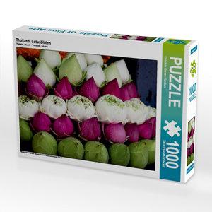 Thailand, Lotusblüten 1000 Teile Puzzle quer