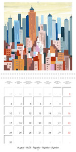 NEW YORK sky and lines (Wall Calendar 2020 300 × 300 mm Square)