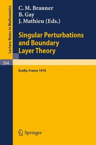 Singular Perturbations and Boundary Layer Theory