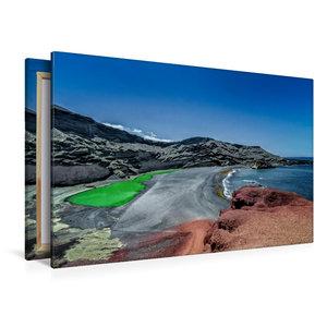 Premium Textil-Leinwand 120 cm x 80 cm quer Lanzarote - Meisterw