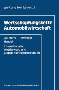 Wertschöpfungskette Automobilwirtschaft