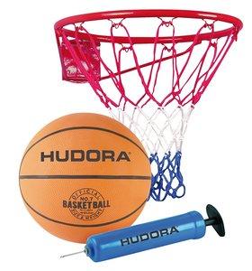 HUDORA 71710 - Basketball Set Slam It, Korb + Ball + Pumpe