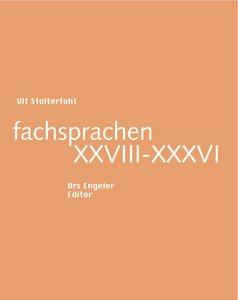 fachsprachen XXVIII-XXXVI