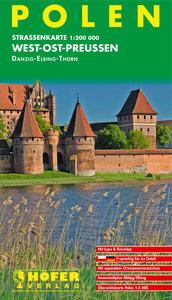 Polen PL011. West-Ost-Preußen 1 : 200 000. Straßenkarte