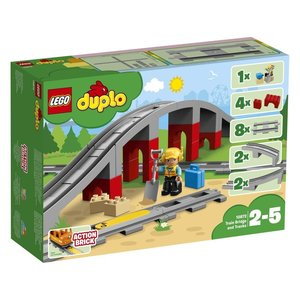 Duplo Eisenbahnbrücke und Schienen