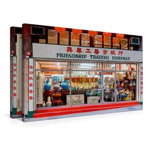 Premium Textil-Leinwand 90 cm x 60 cm quer Sheung Wan