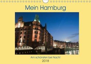 Hamburg bei Nacht (Wandkalender 2018 DIN A4 quer)