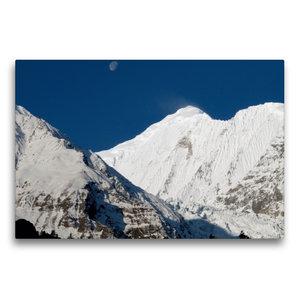 Premium Textil-Leinwand 75 cm x 50 cm quer Annapurna Himal - Gan