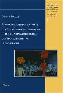 Psycholinguistische Aspekte der Interferenzerscheinungen in der