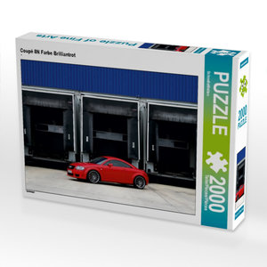Coupé 8N Farbe Brilliantrot 2000 Teile Puzzle quer