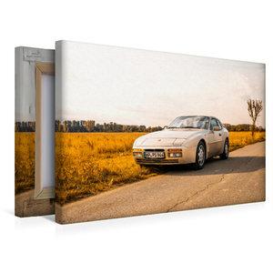 Premium Textil-Leinwand 45 cm x 30 cm quer Porsche 944 S2 in her