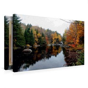 Premium Textil-Leinwand 75 cm x 50 cm quer Blick auf den Berg Tr