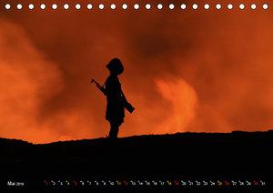Vulkane Äthiopiens - Erta Ale und Dallol (Tischkalender 2019 DIN