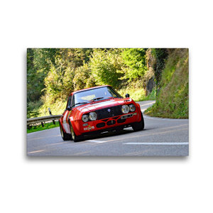 Premium Textil-Leinwand 45 cm x 30 cm quer Lancia Fulvia Zagato