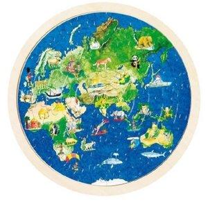 Einlegepuzzle Weltkugel