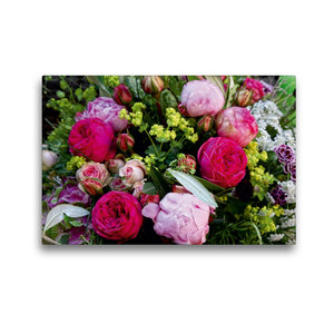 Premium Textil-Leinwand 45 cm x 30 cm quer Bunter Blumenstrauss