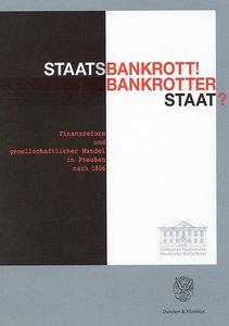 Staatsbankrott! Bankrotter Staat?