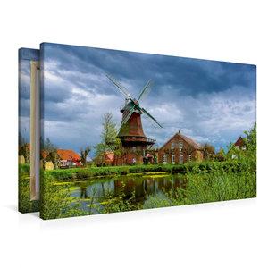 Premium Textil-Leinwand 90 cm x 60 cm quer Nessmer Mühle