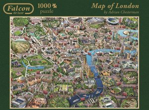 Falcon - Map of London - 1000 Teile