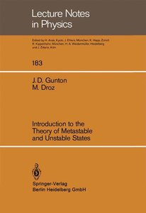 Introduction to the Theory of Metastable and Unstable States