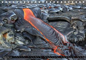 Hawaiian Lava - Die Schönheit von Feuergöttin Pele (Tischkalende