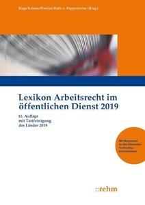 Lexikon Arbeitsrecht im öffentlichen Dienst 2019