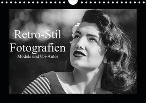 Retro-Stil Fotografien Models und US-Autos