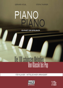 Piano Piano - - mittelschwer arrangiert. 3 CDs