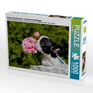 Kleiner Rosenkavalier - Französische Bulldogge 1000 Teile Puzzle