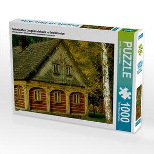 Böhmisches Umgebindehaus in Jet?ichovice 1000 Teile Puzzle quer
