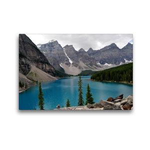 Premium Textil-Leinwand 45 cm x 30 cm quer Moraine Lake, Kanada