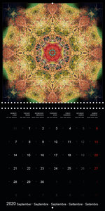 Flower Energy Mandalas (Wall Calendar 2020 300 × 300 mm Square)