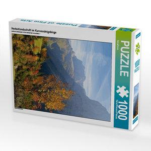 Herbstlandschaft im Karwendelgebirge 1000 Teile Puzzle hoch