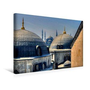 Premium Textil-Leinwand 45 cm x 30 cm quer Ausblick auf die Blau
