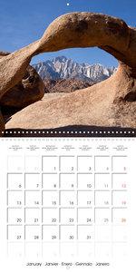 California - USA (Wall Calendar 2020 300 × 300 mm Square)