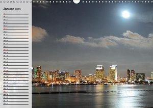 Metropolen. Großstadtlichter und Skylines (Wandkalender 2019 DIN