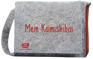"""Umhängetasche \""""Mein Kamishibai\"""". Modell 2019. Aus grauem Filz,"""