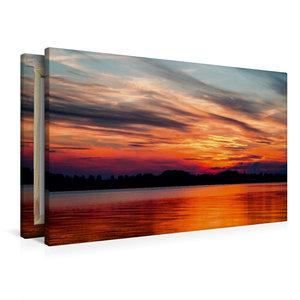 Premium Textil-Leinwand 90 cm x 60 cm quer Wolkenstimmung Sommer