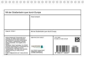 Mit der Straßenbahn quer durch Europa (Tischkalender 2019 DIN A5
