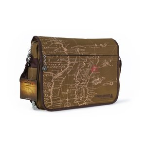 Uncharted 4 - Messenger Bag - Map, Brown