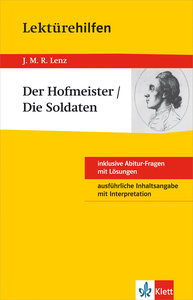 """Lektürehilfen J.M.R. Lenz """"Der Hofmeister / Die Soldaten"""""""